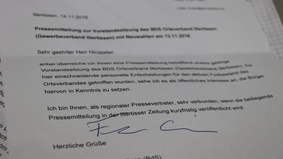 """325e453dfb Illertissen: Ärger im """"Bund der Selbständigen"""": Vorstand stellt ..."""