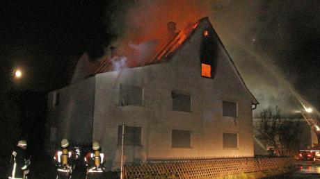 Der Großbrand eines ehemaligen landwirtschaftlichen Anwesens in Gannertshofen, war der anspruchsvollste Einsatz der Feuerwehr Buch im Jahr 2018.