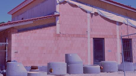 Der Bau der neuen Kindertagesstätte schreitet voran.