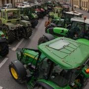 Landwirte wollen sich heute für eine Demonstration in Memmingen versammeln.