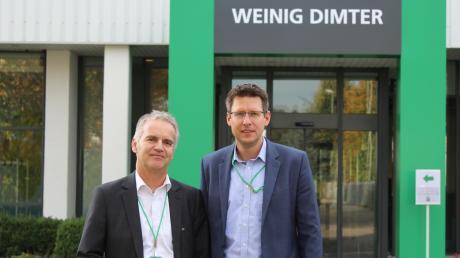 Wechsel bei Weinig Dimter: Thomas Tristl (links) hat kürzlich die Geschäftsführung des Illertisser Betriebs von Mario Kordt übernommen.