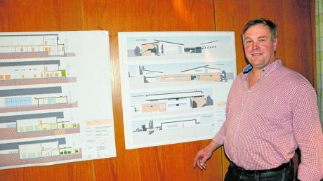 Vorsitzender Gerhard Fäßler präsentierte Pläne für das neue Vereinsheim. Der Bau soll im kommenden Jahr starten.
