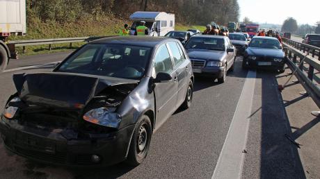 Auf der A7 bei Vöhringen hat es am Freitag gekracht.