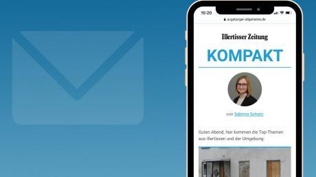 """In Zukunft erhalten Sie über unsere NewsApp von Montag bis Freitag jeden Abend unseren neuen lokalen Newsletter """"Illertisser Zeitung Kompakt""""."""