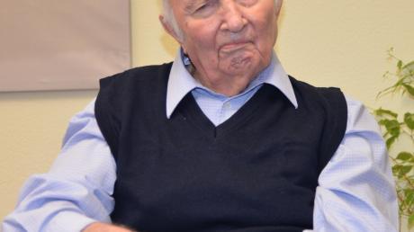 Anton Hirschmann ist trotz seines Alters gut drauf.