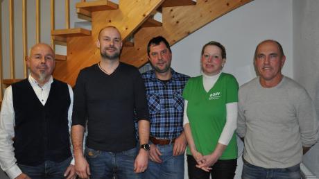 Das ist der neue Vorstand der Babenhauser DAV-Ortsgruppe (von links): Kassenwart Thomas Huber, Vorsitzender Alexander Bär, Stellvertreter Sven Arnold, Schriftführerin Daniela Krauße und Tourenwart Werner Miller.