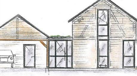 Die Zeichnung zeigt, wie das geplante Mini-Haus in Mohrenhausen aussehen könnte.