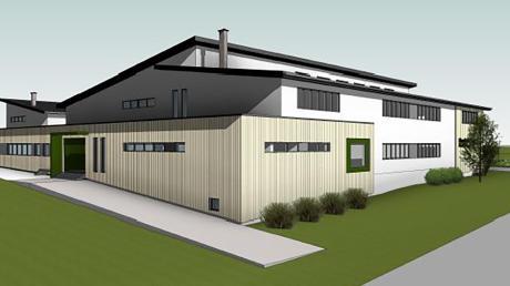 Das neue Vereinsheim mit Mehrzweckhalle und Gaststätte soll neben dem bestehenden Schützenheim in Oberschönegg entstehen.