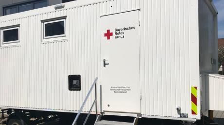 In diesem Container ist die Fieberambulanz in Altenstadt untergebracht, eine von zweien im Landkreis Neu-Ulm.