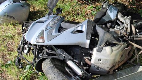 Auf der A7 kam es zu einem schweren Motorradunfall.