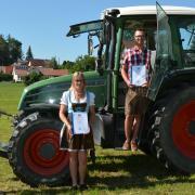 Die besten Absolventen beim Berufsabschluss Landwirt (von links): Maximilian Meßner, Stefanie Baur, Tobias Schempp und Fabian Kraft.