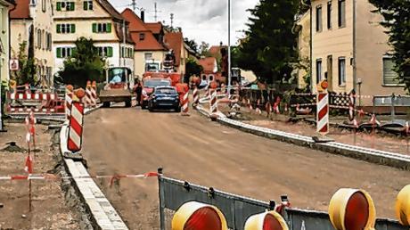 Seit Wochen ist ein Teil der Memminger Straße in Fellheim gesperrt.