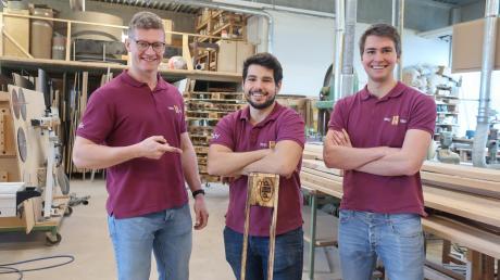 Felix Scheffer, Frederik Schmid und Robin Brandt sind die Gründer von Perfect Pallets in Illertissen.