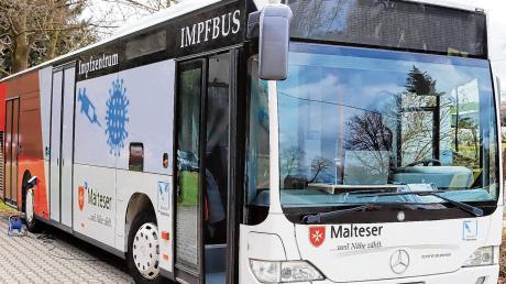 Der Impfbus, der zuvor im Ingolstädter Stadtverkehr eingesetzt wurde.
