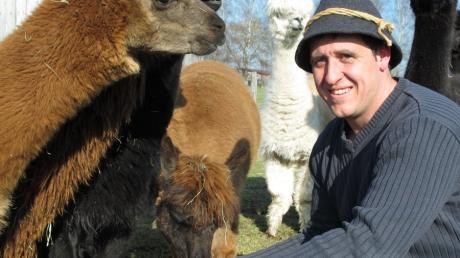 Pit Rauscher züchtet Alpakas in Rammingen.