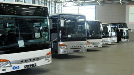 Neue Setra-Reisebusgeneration von Evobus im Werk in  Neu-Ulm (Archivfoto)