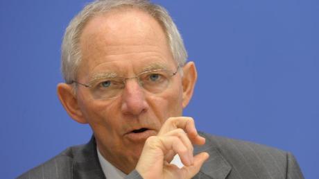 Bundesfinanzminister Wolfgang Schäuble (CDU).