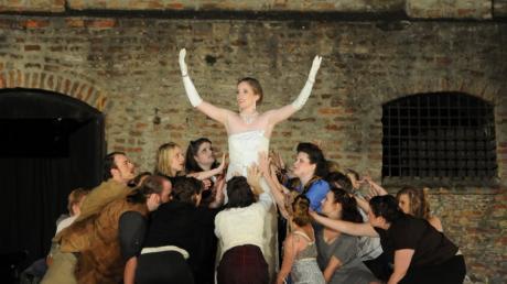 Evita, auf der Freilichtbühne Augsburg    Deutsche Festspielbühne