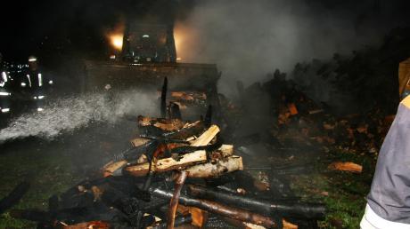 Zu einem Brand bei Megesheim musste die Feuerwehr am Donnerstagabend ausrücken.