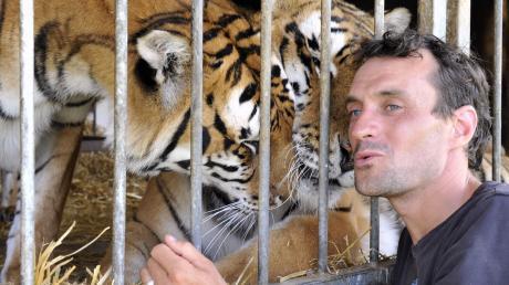 Tigerdompteur Christian Walliser.