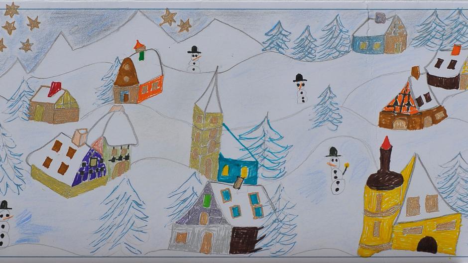 Weihnachtskarten Malen.Aktion Unserer Zeitung Bildergalerie Kinder Malen Weihnachtskarten