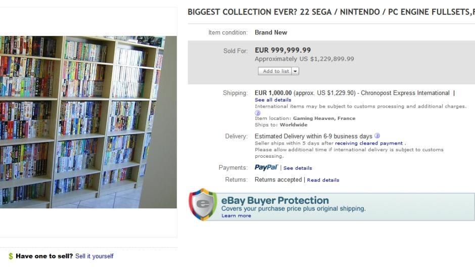 Kuriose Ebay Auktion Franzose Verkauft Videospielsammlung Fur Eine