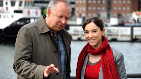 Tatort Kiel: Die Schauspieler Axel Milberg als Klaus Borowski und Sibel Kekilli als Sarah Brandt.