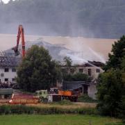 Brand Bauernhof in Feigenhofen, der Tag danach