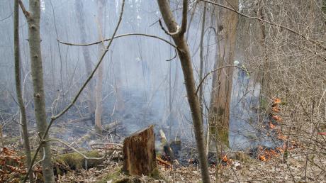 Erst gestern waren in Haunstetten 10.000 Quadratmeter Wiese in Flammen aufgegangen.