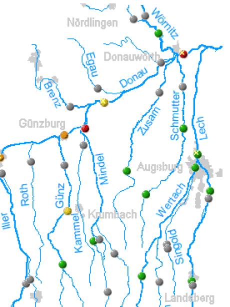 Schwaben Karte Deutschland.Schwaben Hochwasser Region Zwischen Anspannung Und Entspannung