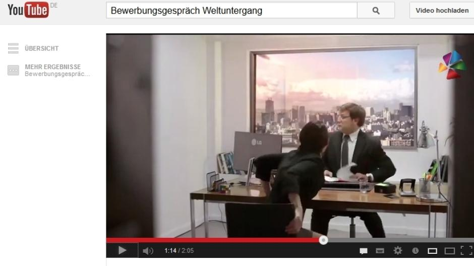 bewerbungjpg - Youtube Video Bewerben