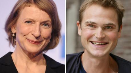 Die Kombo zeigt die Schauspieler Dagmar Manzel und Fabian Hinrichs. Im künftigen Franken-Tatort werden die Schauspieler auf Mörderjagd gehen.