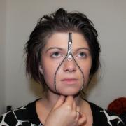 Reißverschluss Maske Halloween