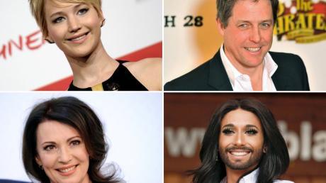 """Viele Stars schätzen """"Wetten,dass..?"""" als Werbeplattform für ihre Aktivitäten. In Graz sind Jennifer Lawrence, Hugh Grant, Iris Berben und Conchita Wurst zu Gast."""