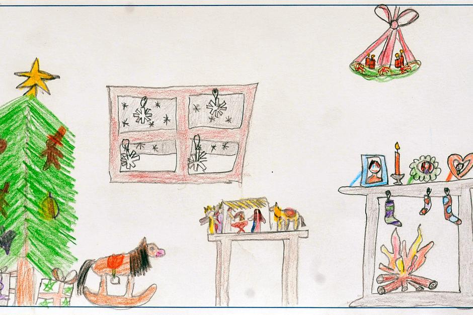 Weihnachtsbilder Gemalt.Diese Schönen Weihnachtskarten Haben Kinder Gemalt Und Gebastelt