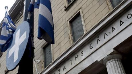 Griechische Nationalbank in Athen: Spekulationen über ein Ausscheiden aus der Eurozone nehmen zu. Foto: Alexandros Vlachos/Archiv