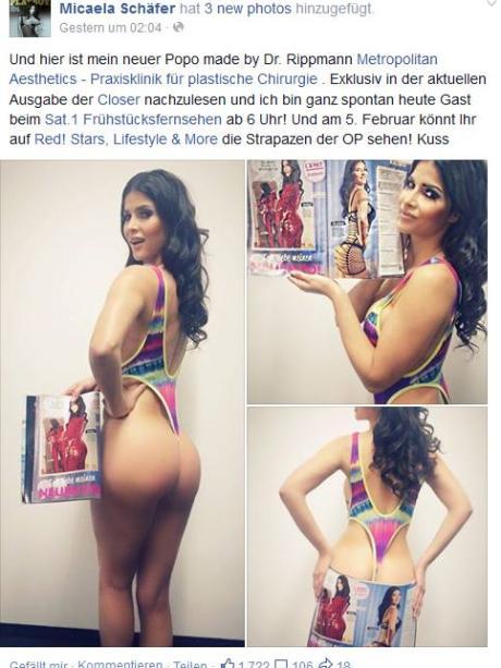 Nacktmodel Micaela Schäfer Und Die Weltpremiere Hier Ist Mein