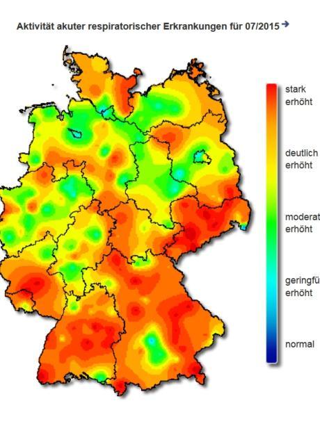 grippe karte Grippe Karte: Bayern stark betroffen: Hier hat die Grippe am