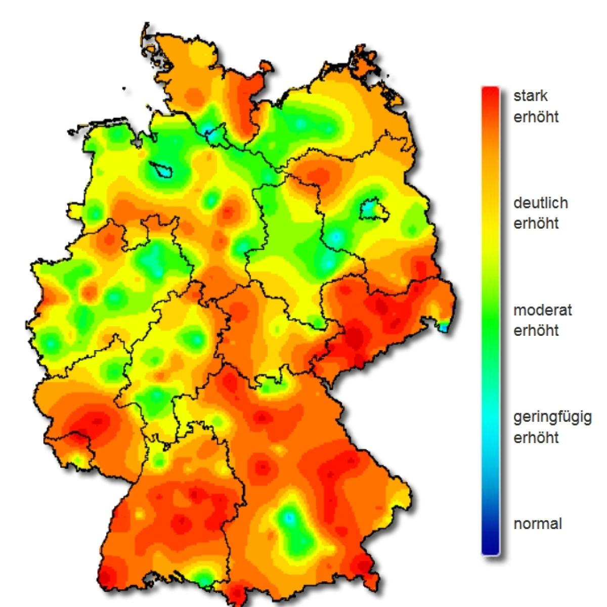 influenza karte Grippe Karte: Bayern stark betroffen: Hier hat die Grippe am  influenza karte