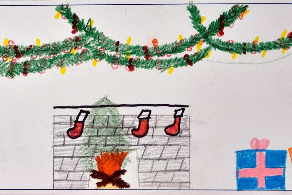Gemalte Weihnachtskarten.Diese Schönen Weihnachtskarten Haben Kinder Gemalt Und Gebastelt