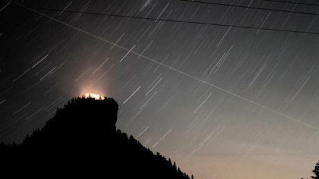 Sternschnuppen der Perseiden werden am Nachthimmel zu sehen sein.