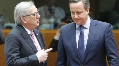 Unter vier Augen:David Cameron (r.) und EU-Kommissionschef Jean-Claude Juncker.