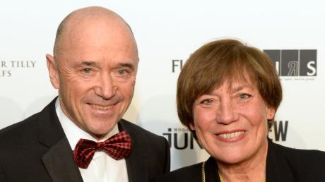 Rosi Mittermaier und Christian Neureuther zusammen auf dem Presseball 2015.