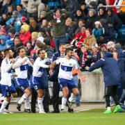 Das Team von San Marino in Ekstase nach dem Ausgleich gegen Norwegen.