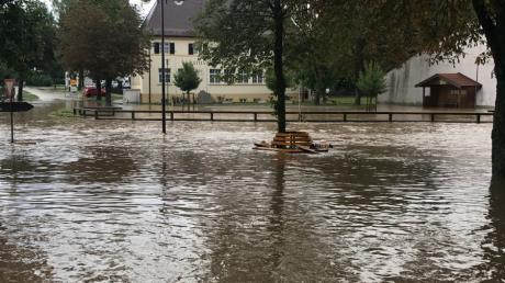 Otting nach Unwetter überschwemmt