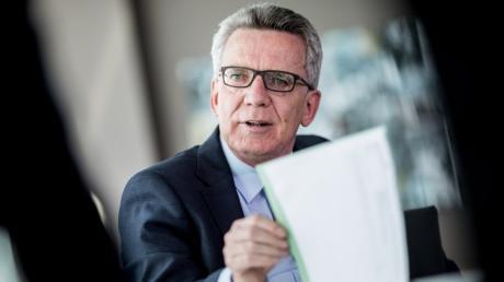 Der ehemalige Bundesinnenminister Thomas de Maiziere (CDU) spricht über seinen Abschied aus dem Kabinett.