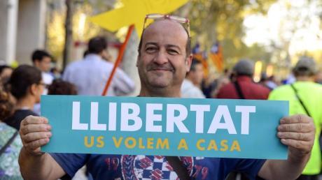 «Freiheit»: Protest in Barcelona. Foto: Nicolas Carvalho Ochoa
