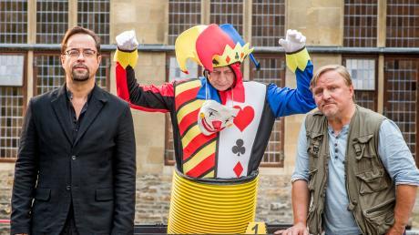 """Frank Thiel (Axel Prahl) und Professor Boerne (Jan Josef Liefers): Szene aus dem Münster-Tatort """"Gott ist auch nur ein Mensch"""", der heute als Wiederholung im Ersten läuft."""