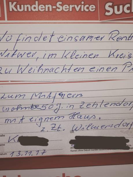 Weihnachten Datum.Berlin Rührende Annonce Rentner Will Weihnachten Nicht Allein
