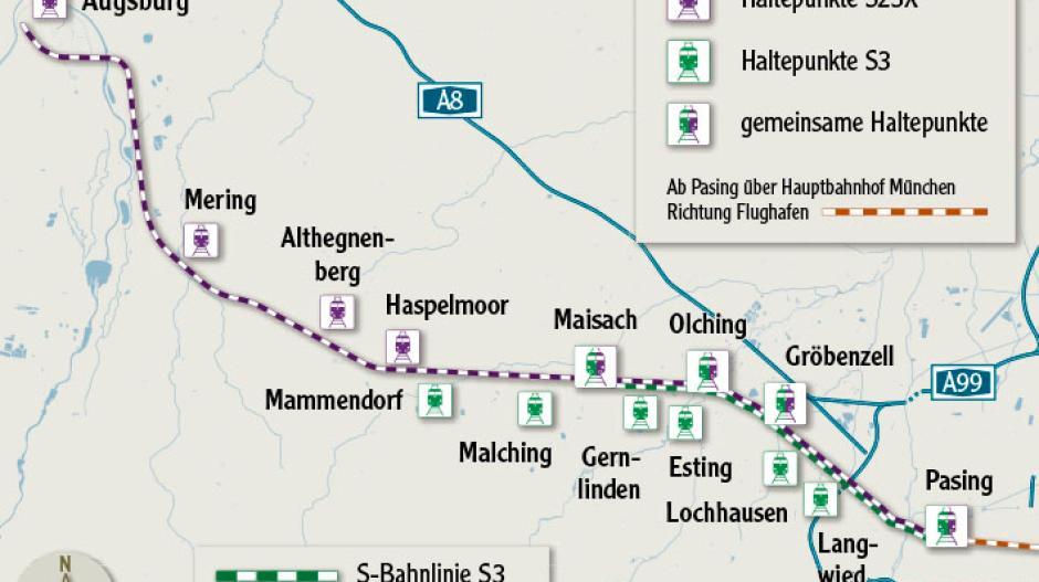 Karte München S Bahn Netz.Augsburg So Soll Die Münchner S Bahn Nach Augsburg Fahren Lokales